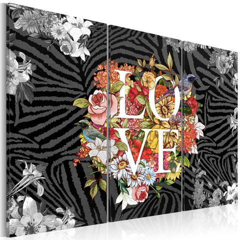Canvas Print - Flowers from the heart