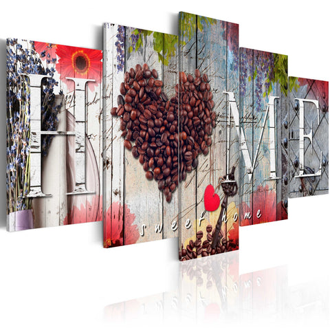 Canvas Print - Coffee heart