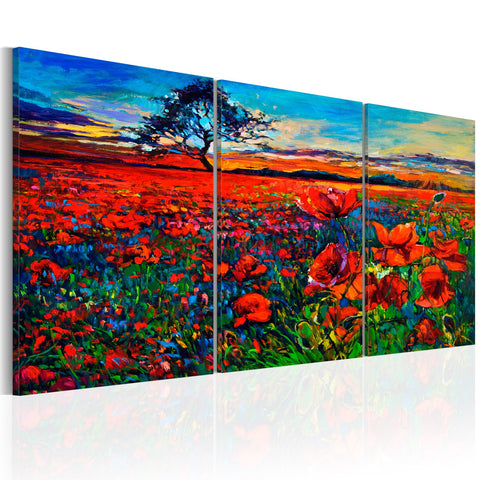 Canvas Print - Valley of Poppies