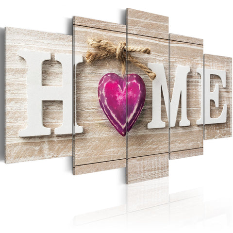Canvas Print - Home: Pink Heart