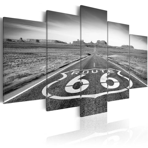 Canvas Print - Route 66 - black and white