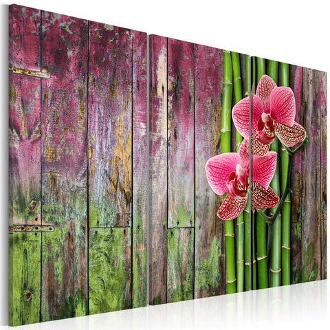 Canvas Print - Flower and bamboo