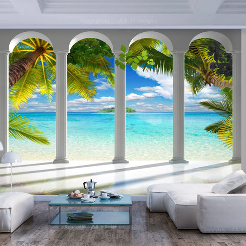 Wallpaper - Sea behind Columns