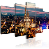 Canvas Print - Koeln: Night Panorama