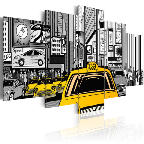 Canvas Print - Cartoon taxi