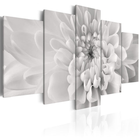 Canvas Print - Dahlia flower in grey shades