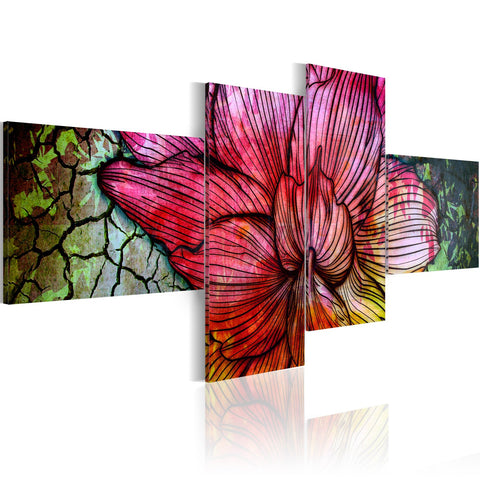 Canvas Print - A rainbow-hued flower