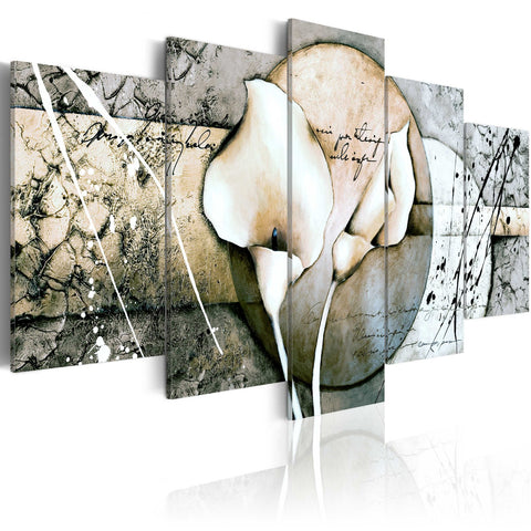 Canvas Print - The Secret of Calla Lily - Grey