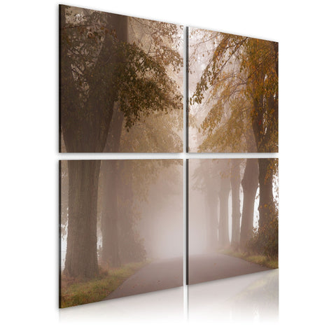 Canvas Print - Foggy alley