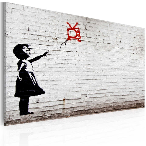 Canvas Print - Girl with TV (Banksy)