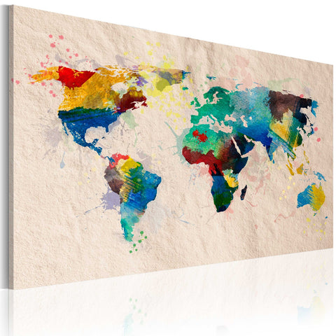 Canvas Print - The World of Colours