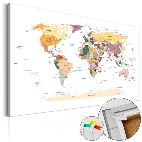 Decorative Pinboard - World Map [Cork Map]