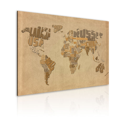 Canvas Print - Old map of the World