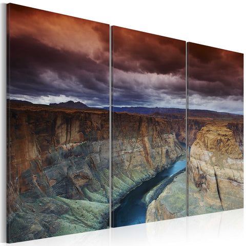 Canvas Print - Clouds over the Grand Canion in Colorado
