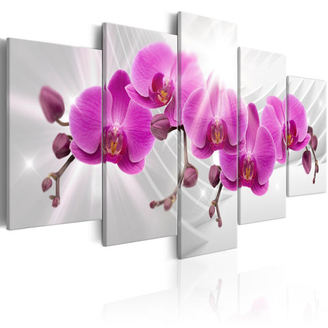 Canvas Print - Abstract Garden: Pink Orchids