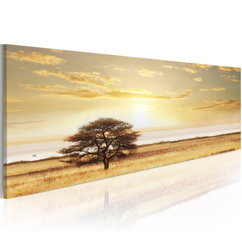 Canvas Print - Lonely tree on savannah