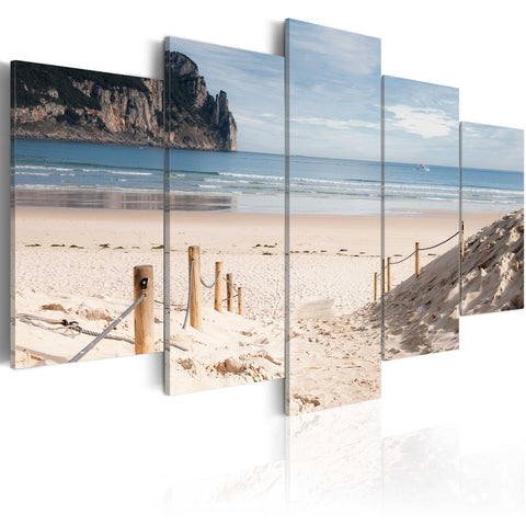 Canvas Print - Walk by the sea