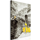 Canvas Print - Far Dreams (1 Part) Vertical Yellow