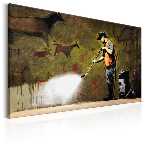 Canvas Print - Cave Painting by Banksy