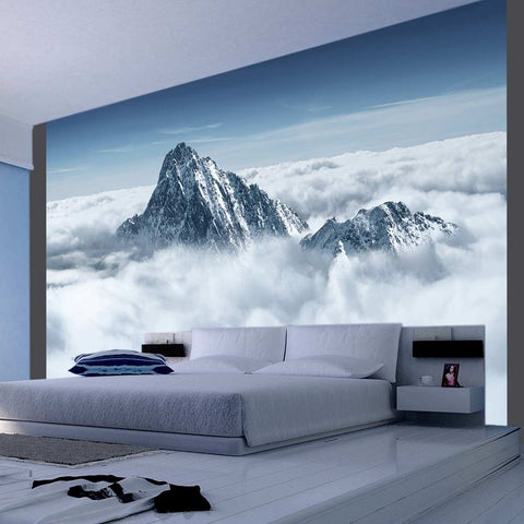 Wallpaper - Mountain in the clouds