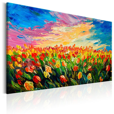 Canvas Print - Sea of Tulips