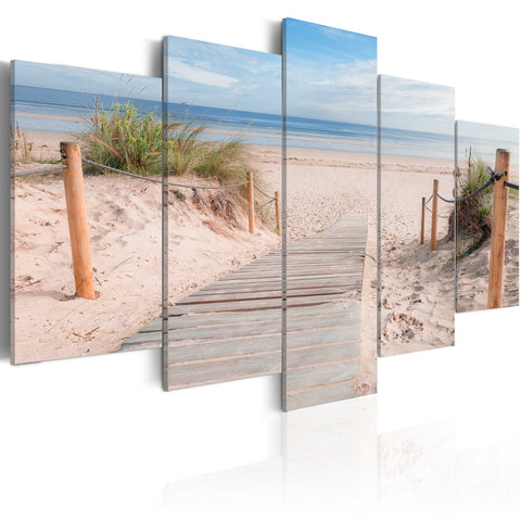 Canvas Print - Morning on the beach
