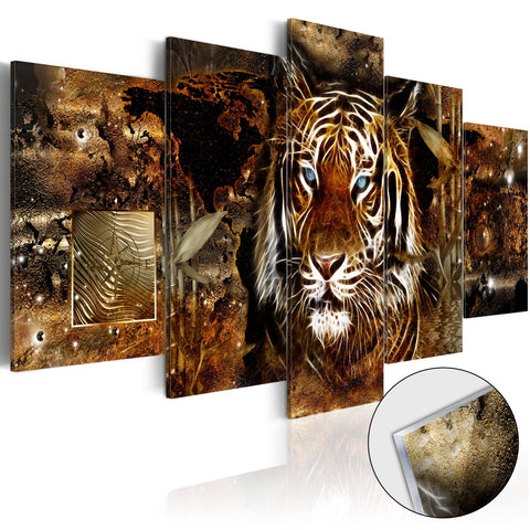 Acrylic Print - Golden Jungle [Glass]