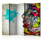 Room Divider - Graffiti beauty II [Room Dividers]