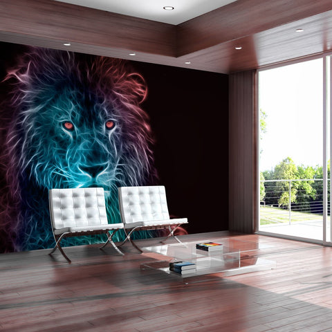 Wallpaper - Abstract lion - rainbow