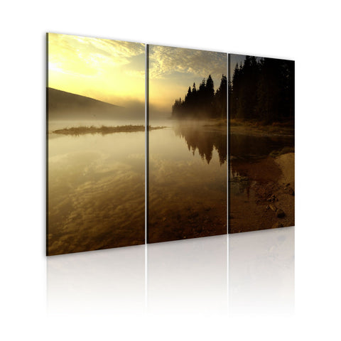 Canvas Print - In the evening, by the lake