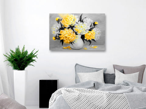 Canvas Print - Fragrant Colours (1 Part) Wide Yellow