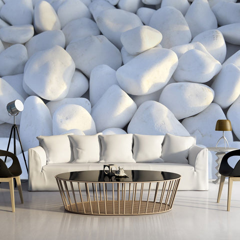 Wallpaper - White Pebbles