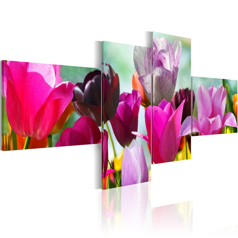 Canvas Print - Charming red tulips