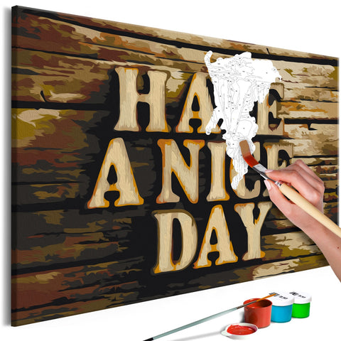 DIY canvas painting - Have a Nice Day