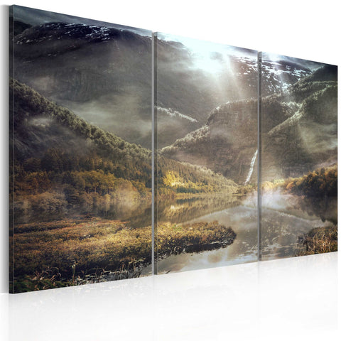 Canvas Print - The land of mists - triptych
