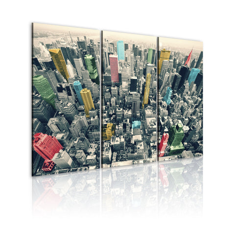 Canvas Print - New York, black&white&colors