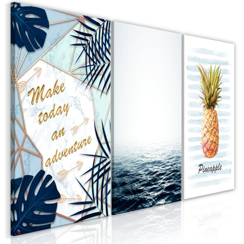 Canvas Print - Pineapple Quote (3 Parts)