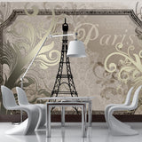 Wallpaper - Vintage Paris - gold