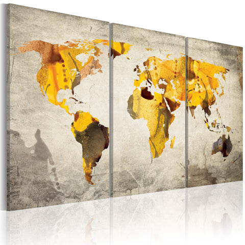 Canvas Print - Sunny continents - triptych