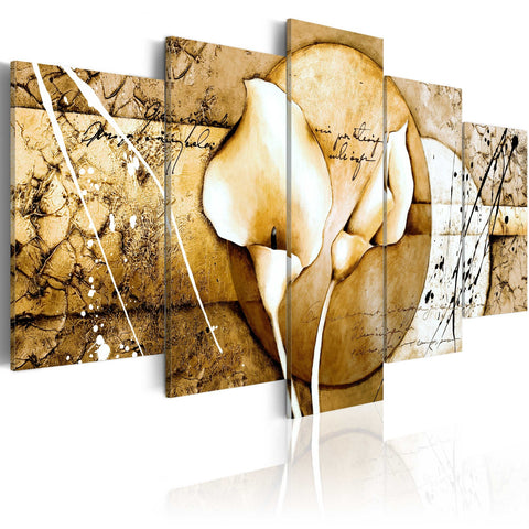 Canvas Print - The Secret of Calla Lily - Beige