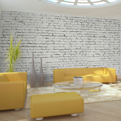 XXL wallpaper - Wall made from white raw brick