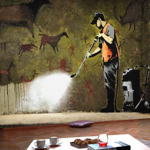 Wallpaper - Banksy - Cave Painting