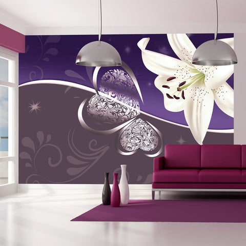 Wallpaper - Lily in shades of violet