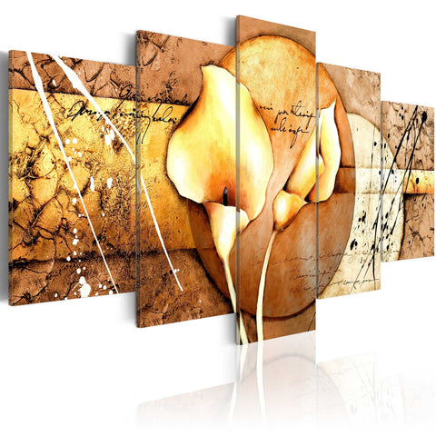 Canvas Print - The Secret of Calla Lily - Gold