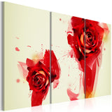 Canvas Print - A new look on a rose