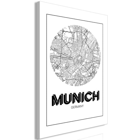 Canvas Print - Retro Munich (1 Part) Vertical