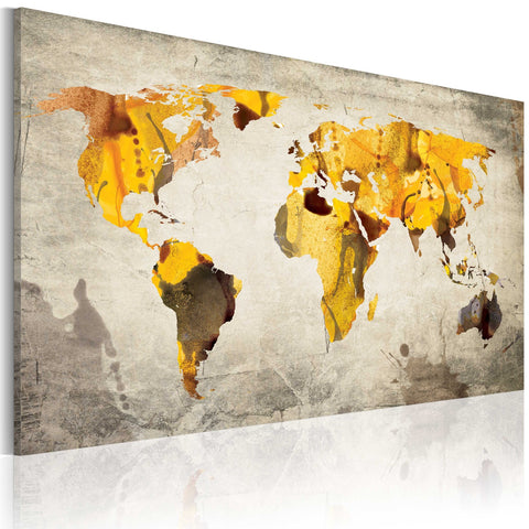 Canvas Print - Sunny continents