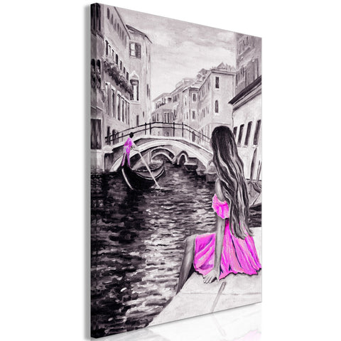 Canvas Print - Far Dreams (1 Part) Vertical Pink