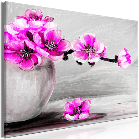 Canvas Print - Lightness of Light (1 Part) Wide Pink