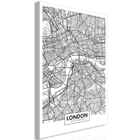 Canvas Print - Map of London (1 Part) Vertical